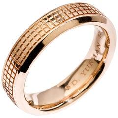 David Yurman Men's Wedding Band 18 Karat Rose Gold Original Box