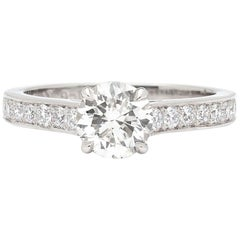 GIA 1.06 D/VS2 in Custom Platinum and Diamond Ring