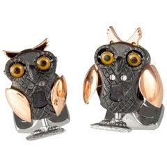 Deakin & Francis Moving Owl Cufflinks