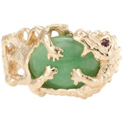 Dragon Cocktail Ring Jade