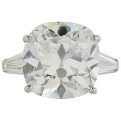 10.18 Carat GIA Certified H VVS2 Cushion Cut Diamond Engagement Ring