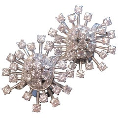 Retro Diamond Starburst Earrings
