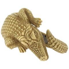 Alligator Cuff Bracelet