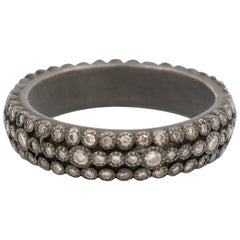 Armenta Old World Multi-Eternity Stack Ring, Champagne Diamonds, Style 09012