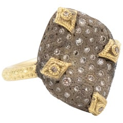 Armenta Old World Bean-Shaped Ring, 18k Yellow Gold & Diamonds, Style 11585