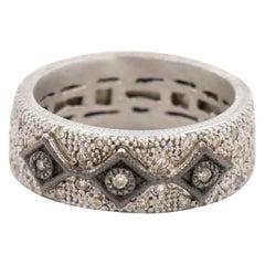 Armenta New World Diamond Band, 0.60 Carat and Silver, Style 10718