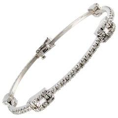 Custom One of a Kind 2.25 Carat Diamond Bracelet
