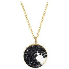 Black Diamond Pendent Necklace