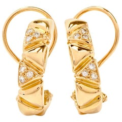 Estate Half-Hoop 18 Karat Clip-On Earrings