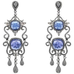 Stephanie Kantis Diamond Tanzanite Drop Earrings
