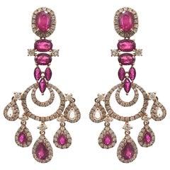 Stephanie Kantis Ruby Diamond Earrings