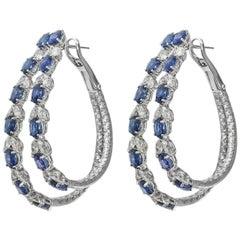 Stephanie Kantis Blue Sapphire Diamond Earrings
