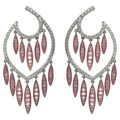 Stephanie Kantis 13.85 Carat Diamond In White And Rose Gold Chandelier Earrings