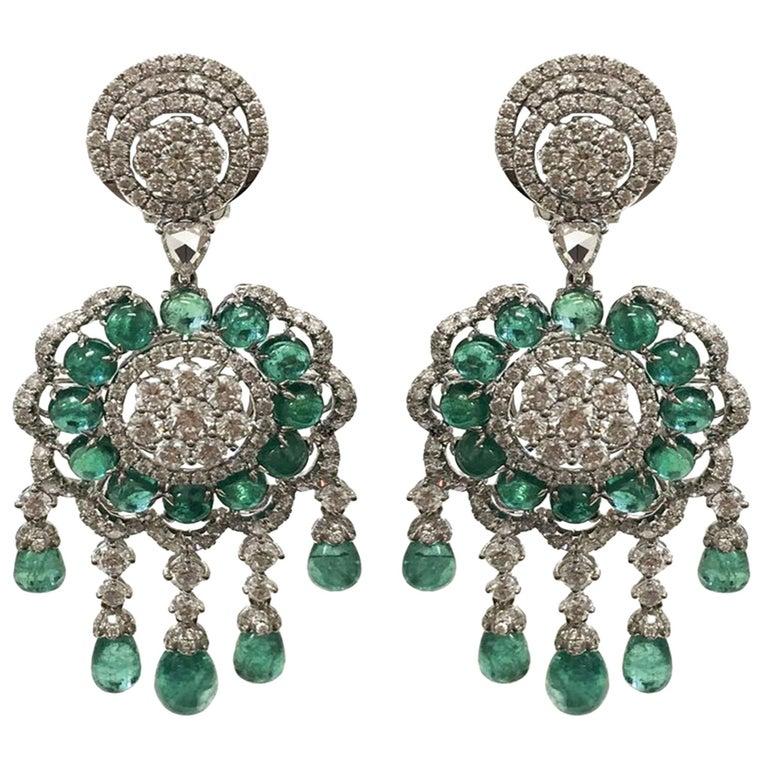 Stephanie Kantis Emerald Diamond Earrings