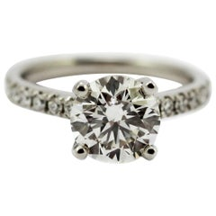 2.21 Carat GIA Certified Diamond G,VS1 Platinum Engagement Ring