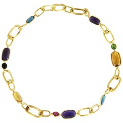 Marco Bicego Murano 18 Carat Yellow Gold Mixed Stone Necklace