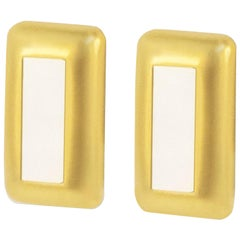 Bliss of Mother-of-Pearl Rectangle Earrings