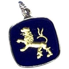 18 Karat Lapis Lazuli Lion Pendant