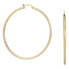 Papini Large Gold Hoop Earrings