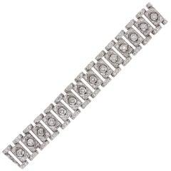 Princess Cut and Round Brilliant Diamond Bezel Set Bracelet