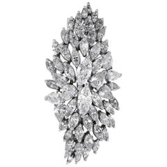 Pear Shape and Marquise Cut Diamond Pin