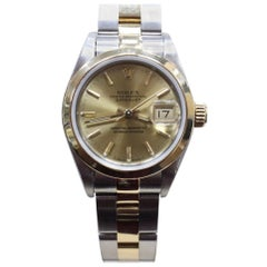 Rolex Ladies Datejust 69163 18 Karat Yellow Gold and Stainless Steel