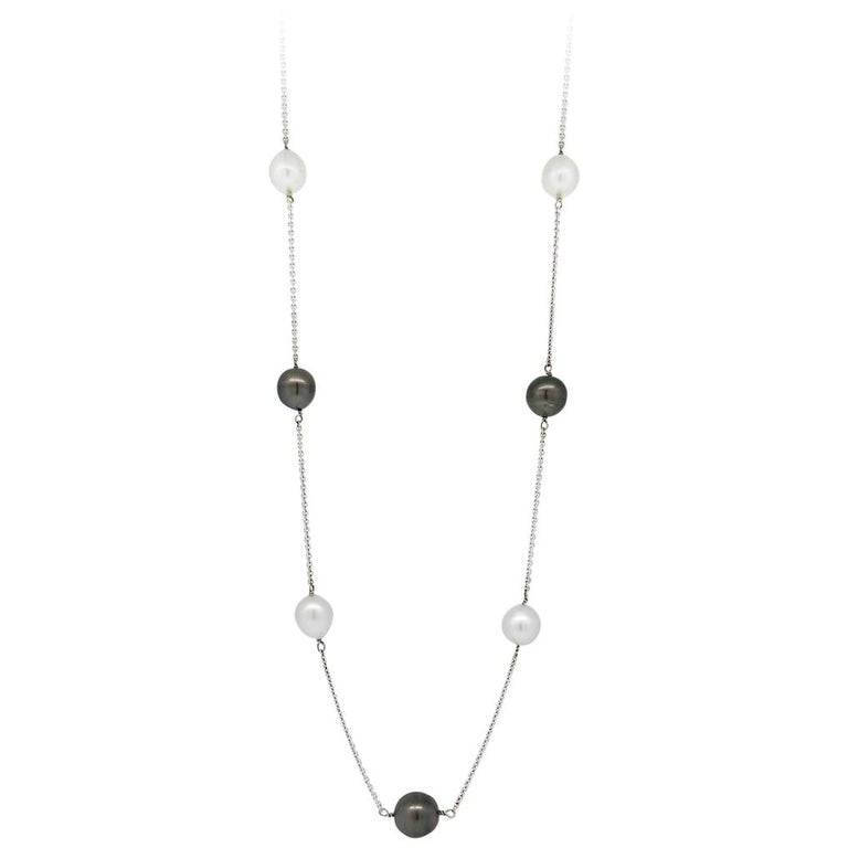 South Sea and Black Tahitian Pearl Necklace