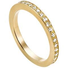 18 Karat Yellow Gold Full Eternity Diamond Ring
