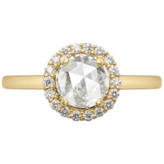 Zoe & Morgan Aura 18k Yellow Gold Diamond Engagement Ring