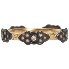 Armenta Old World Sculpted Diamond Scroll Stack Ring, Style 05579