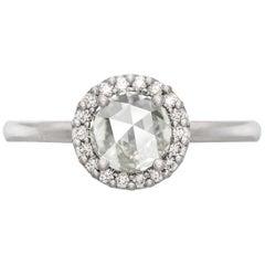 Aura 18 Karat White Gold Diamond Engagement Ring