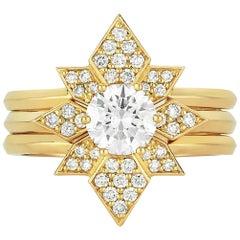 Zoe & Morgan Dahlia & Amara 18k Yellow Gold Diamond Wedding Ring Set