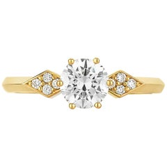 Zoe & Morgan Dahlia 18k Yellow Gold Diamond Engagement Ring