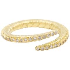 Armenta Old World Criss-Cross Diamond Ring, 18 Karat Yellow Gold, Style 09662