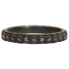 Armenta Old World Black Diamond Stackable Ring, Sterling Silver 925, Style 03117