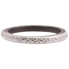 Armenta New World Carved Stack Ring, Antiqued Silver, Style 08734