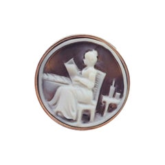 Lovely Lady Cameo Rose Gold Sterling Silver Ring