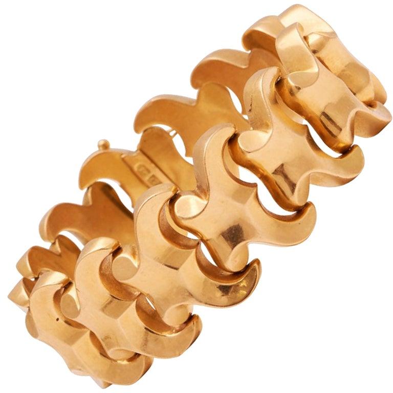 Retro 18 Karat Gold Link Bracelet