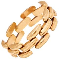 Retro 14 Karat Gold Link Bracelet