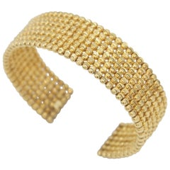 BOON 18K Gold Faceted Bead 7 Rows Bangle
