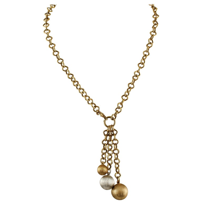 Yellow and White Gold Necklace
