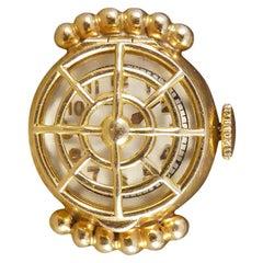Vintage 18 Carat Yellow Gold Watch Ring