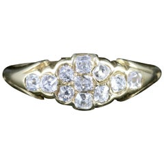 Antique Victorian Diamond Cluster Ring 18 Carat Gold, circa 1880