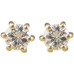 Diamond Stud Earrings in 18 Carat Yellow Gold 0.15 Carat