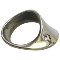 Georg Jensen Sterling Silver Ring No 148 Designed by Torun