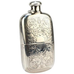 Antique Tiffany & Co. Sterling Silver Whiskey or Liquor Hip Flask