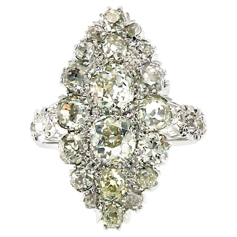 Art Deco 5 Carat Diamond Platinum Ring