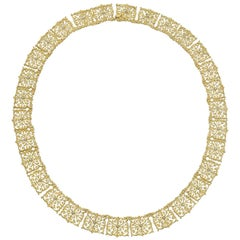 Buccellati Yellow Gold Filigree Link Necklace