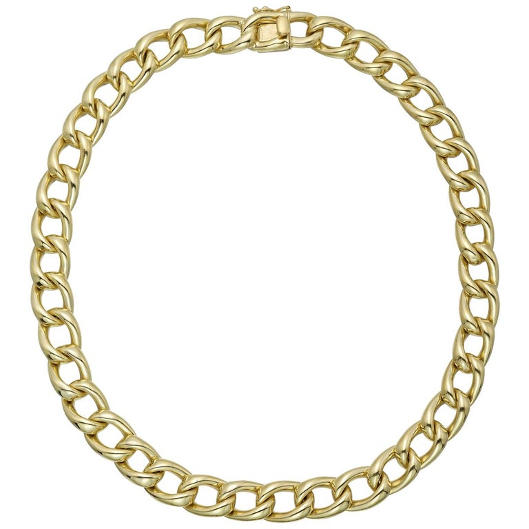 Tiffany & Co. Yellow Gold Curb-Link Necklace