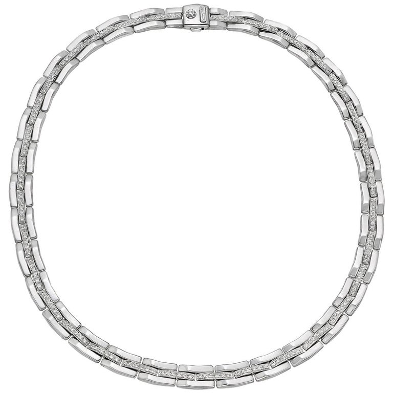Chimento White Gold Diamond Link Necklace